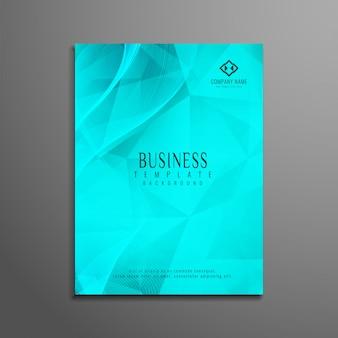 Diseño turquesa poligonal de flyer corporativo