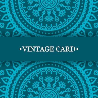 Diseño turquesa vintage de mandala