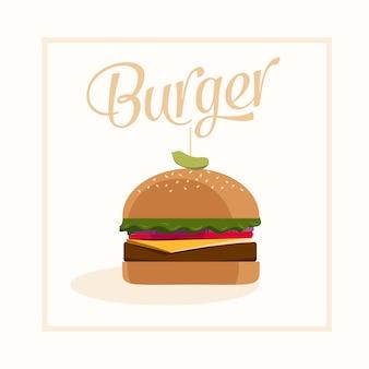 Diseño vectorial de hamburguesa