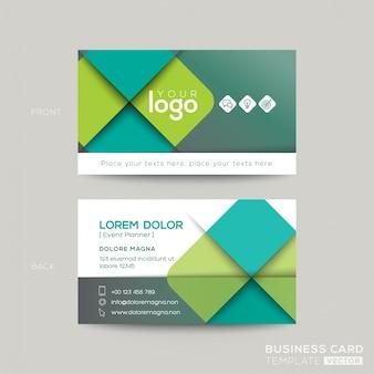 Diseño verde limpio y simple de tarjeta de visita