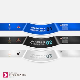Diseño web bandera de la tela de deslizamiento gráfico