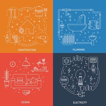 Diseños coloridos de profesiones