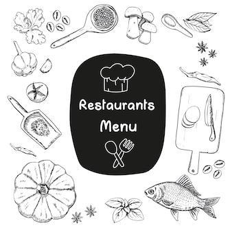 Diseños de comida bocetados