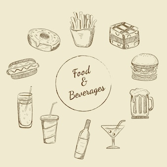 Diseños de comida y bebida