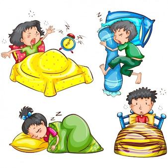 Diseños de niños durmiendo