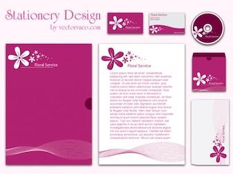 Diseños de papelería corporativa Pink