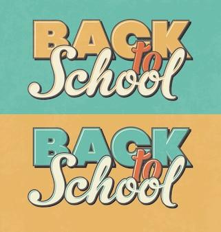 Diseños retro de vuelta al colegio