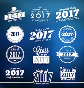 Diseños tipográficos de graduación 2017