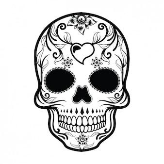 Diseño de calavera mexicana
