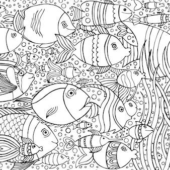 Diseño de fondo con peces