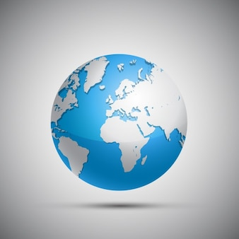 Diseño de globo terráqueo