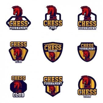 Diseño de plantillas de logos de ajedrez