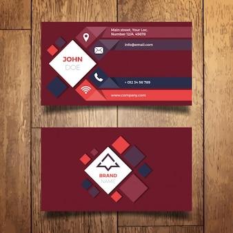 Diseño moderno de tarjeta de negocio