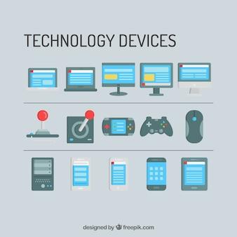Dispositivos de tecnología y consolas de plantillas