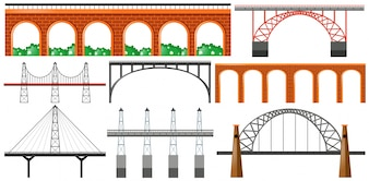 Diverso diseño de puentes