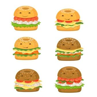 Divertida colección de hamburguesas