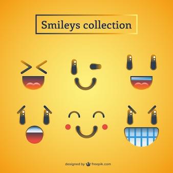 Divertida variedad de smiley
