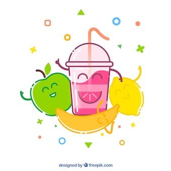 Divertido fondo de frutas