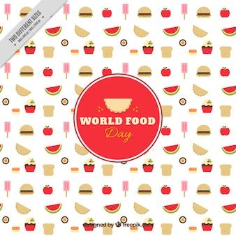 Divertido fondo del día mundial de la alimentación