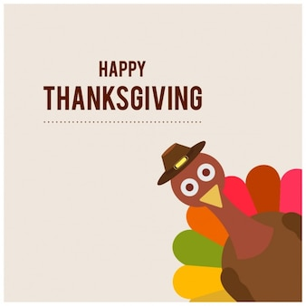 Divertido fondo para el día de acción de gracias