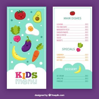 Divertido menú de niños