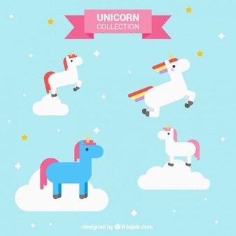 Divertido unicornio en colores
