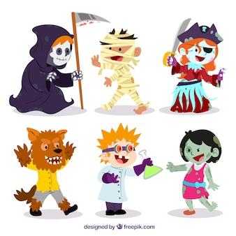 Divertidos personajes de Halloween