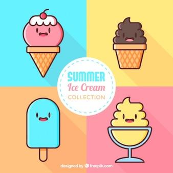 Divertidos personajes de helado