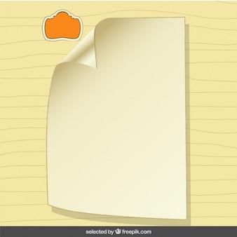 Documento sobre fondo de rayas