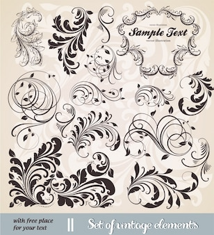 Documento tipográfica tarjeta floral de la boda