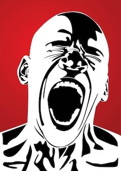 dolor de la ira terror grito