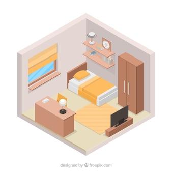 Dormitorio en estilo 3d