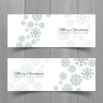 Dos banners blancos para navidad