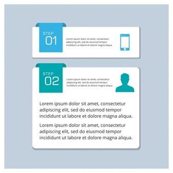 Dos pasos para una infografías