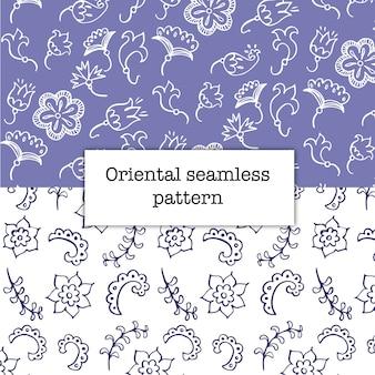 Dos patrones florales púrpuras