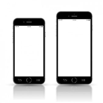 Dos réplicas negras de Smartphone