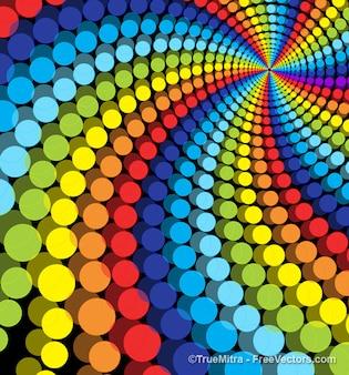 Dotts multicolor remolino de fondo de