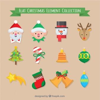 Duende simpático con otros elementos para la navidad