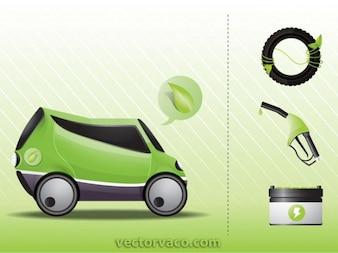 Eco friendly Coches y fuentes de energía