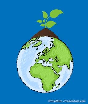 Ecología de la tierra la agricultura antecedentes conjunto de vectores