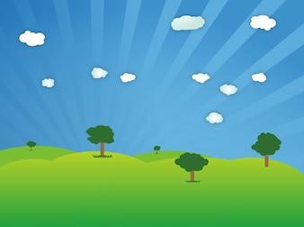 Ecología nube campo vectorial Fresh