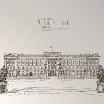 Edificio dibujado a mano
