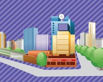edificios de la ciudad libre de vectores