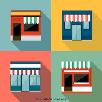 Edificios de las tiendas
