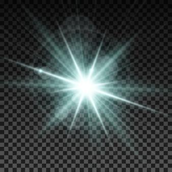 Efecto de destello de luz blanca