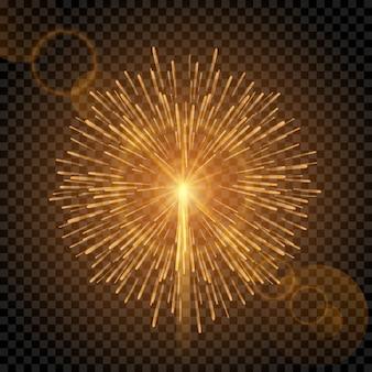Efecto de la luz del fuego artificial