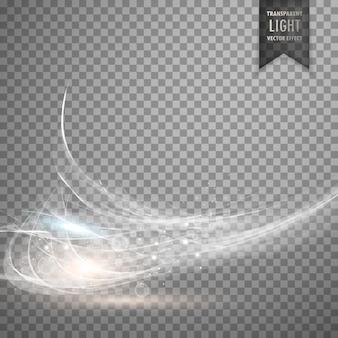 Efecto de luz blanco abstracto transparente