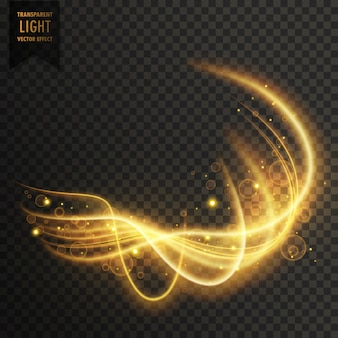 Efecto dorado de luces brillantes