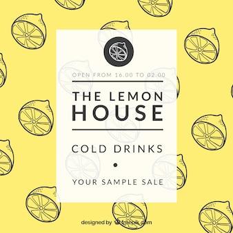 El cartel de la casa de limón