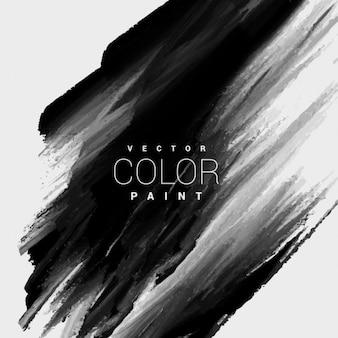 El color negro de fondo mancha de pintura